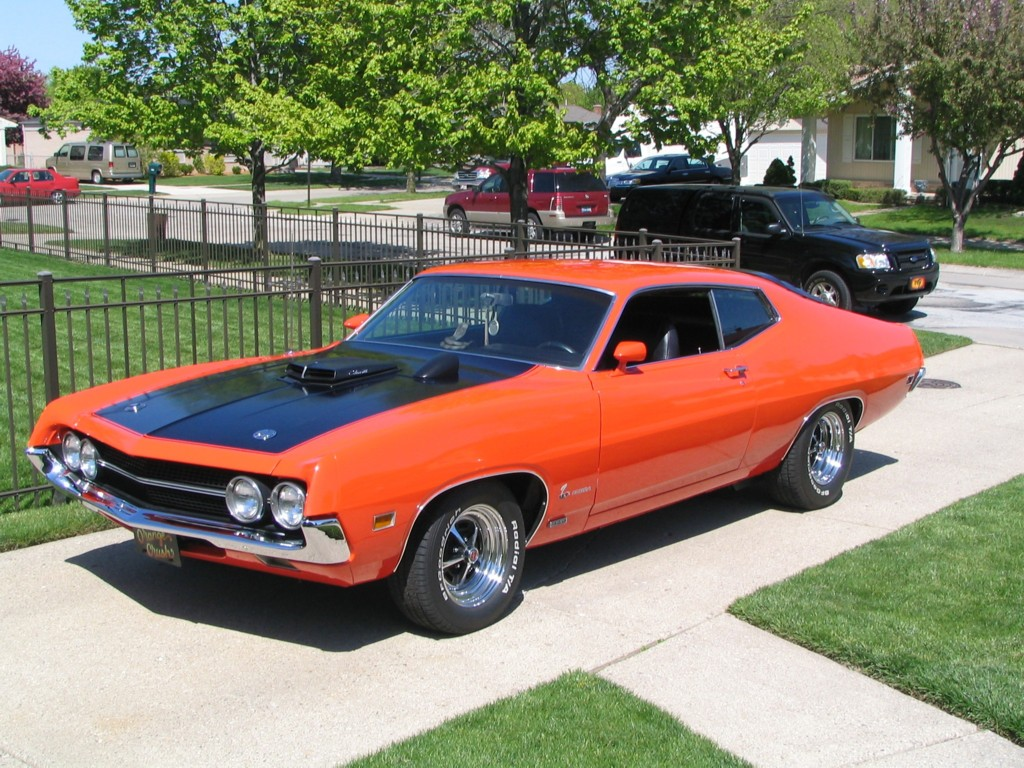 Pictured: 1970 Ford Torino Cobra . Photo by Caprice 96 at English Wikipedia / CC BY-SA 3.0 / GNU FDL 1.2