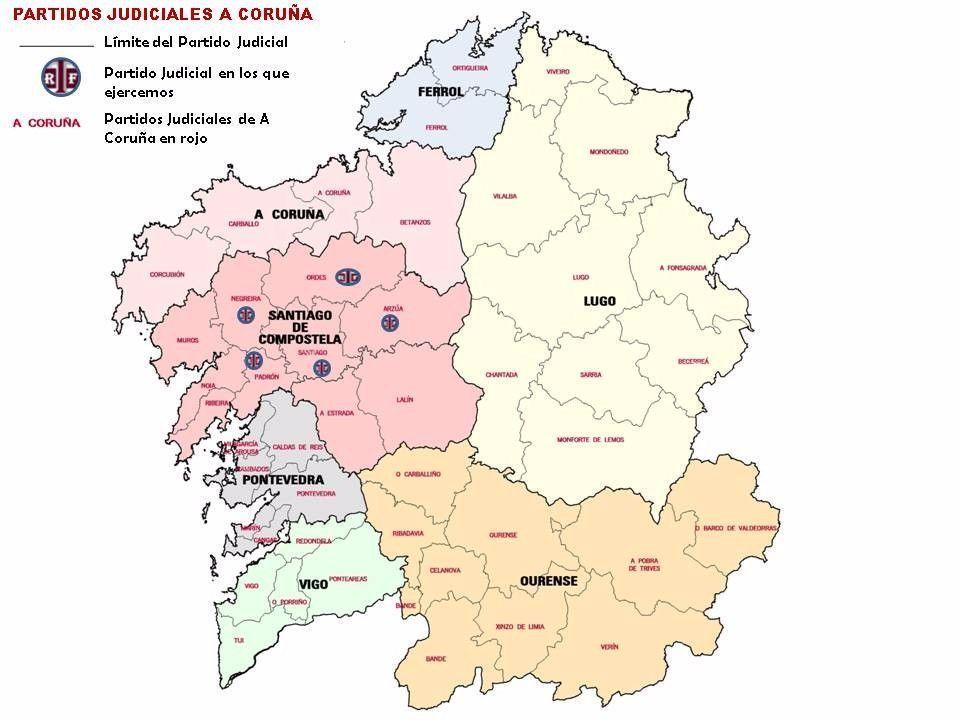Partidos Judiciales A Coruña