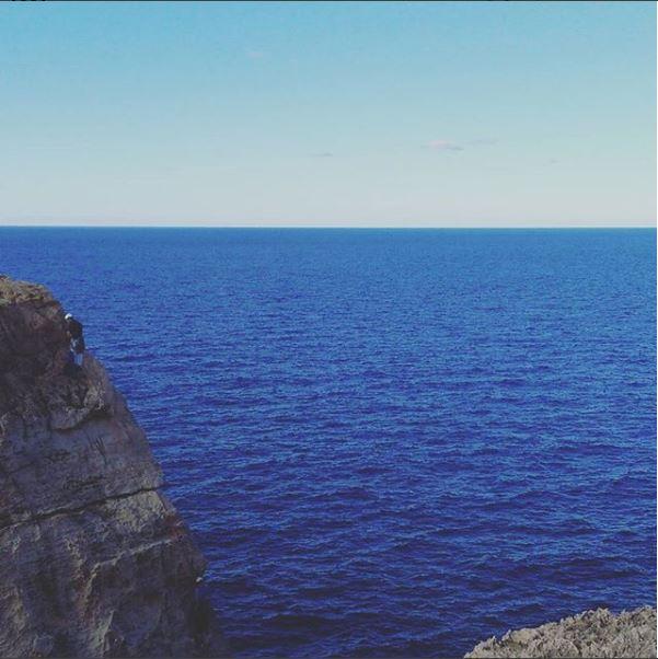 Malta Gozo Climbing Cliff Edge
