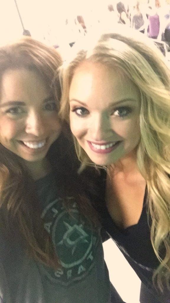 Slightly blurry selfie with my sweet friend, former teammate and the Ice Captain, Whitney!