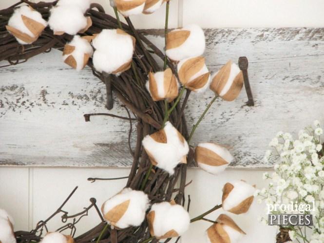 Cotton Arrangement In A Black Vase For Contrast