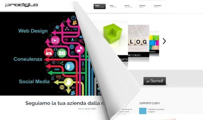 restyling sito web prodigito