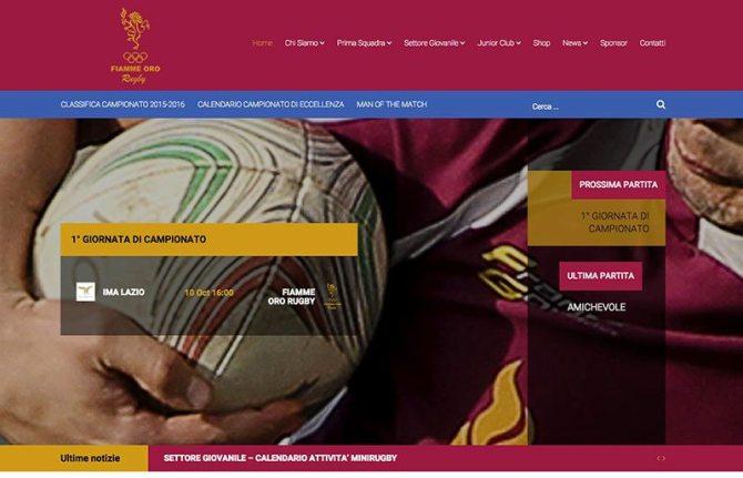 Creazione sito web squadra sportiva rugby