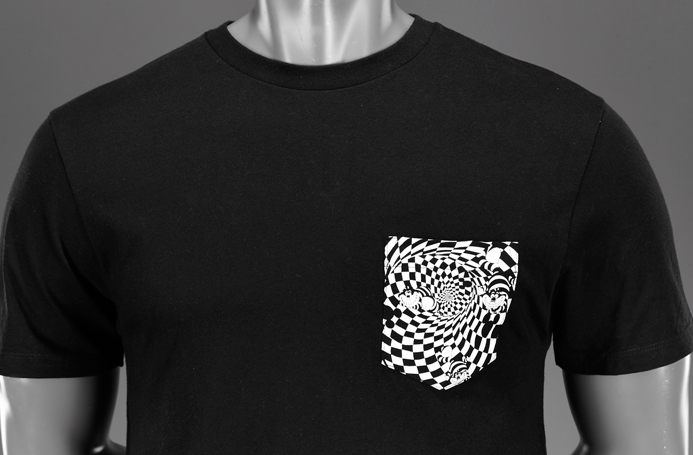 Mens Black T Shirt Front And Back