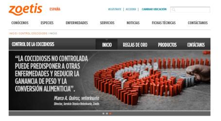 Zoetis lanza una web para el control de la Coccidiosis aviar www.controlcoccidiosis.com