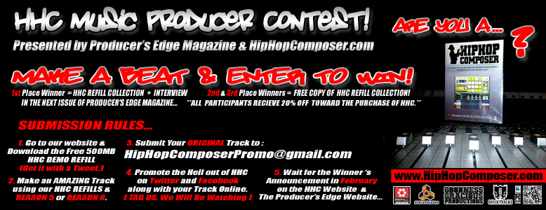 HHC Music Producer Contest Banner