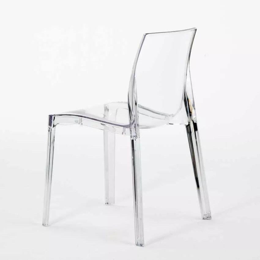 Chaise Transparent Pour Cuisine Bar En Polycarbonate FEMME