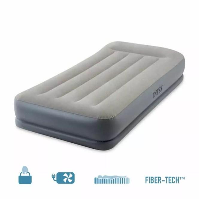 Intex 64116 Inflatable Single Mattress In Fiber Tech