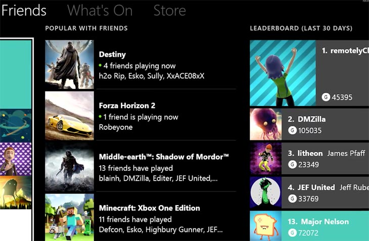 New Xbox One Friends List After Wont Load Problems Product Reviews Net