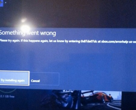 Xbox One 0x87de07dc Error At 99 On Games With Gold