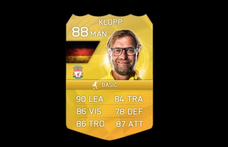 Klopp Consumable For Liverpool FC On FIFA 16 Product