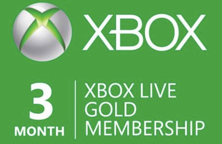 Xbox Live Gold 3 Months Free With Halo Wars 2 Product
