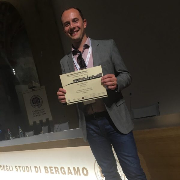 Marco with Best Reviewer Award