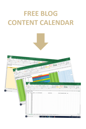 Free Blog Content Calendar Productive Blogging