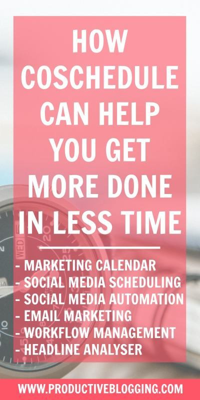 One of the greatest struggles for bloggers is time! CoSchedule is an amazing tool which can help you organise and automate many aspects of your blog: allowing you to get more done in less! #coschedule #coschedulereview #productivitytips #productivityhacks #marketingcalendar #socialmediamanagement #smm #socialmediaautomation #requeue #emailmarketing #headlineanalyzer