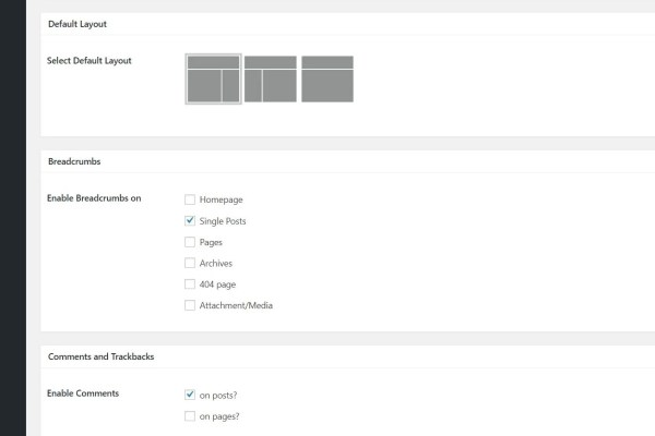 How to switch on breadcrumbs in genesis framework theme settings
