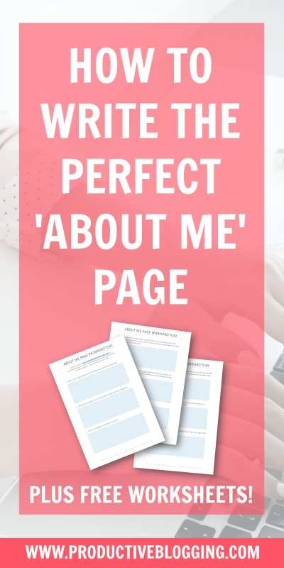 It's probably one of your most visited pages and a HUGE opportunity, but are you wasting it? Here's how to write the perfect 'About Me' page for your blog… #aboutpage #aboutmepage #blogcontent #sellyourself #blogging #blog #blogger #bloggingtips #productiveblogging