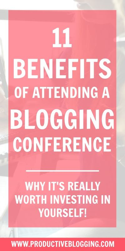With so many ways to learn about blogging: from webinars to courses, podcasts to YouTube, what's the point of attending a live blogging event? Here are 11 benefits of attending a blogging conference… #bloggingconference #conference #seminar #bloggingevent #livebloggingevent #blogging #bloggers #blog #productiveblogging #ProductiveBloggingLIVE