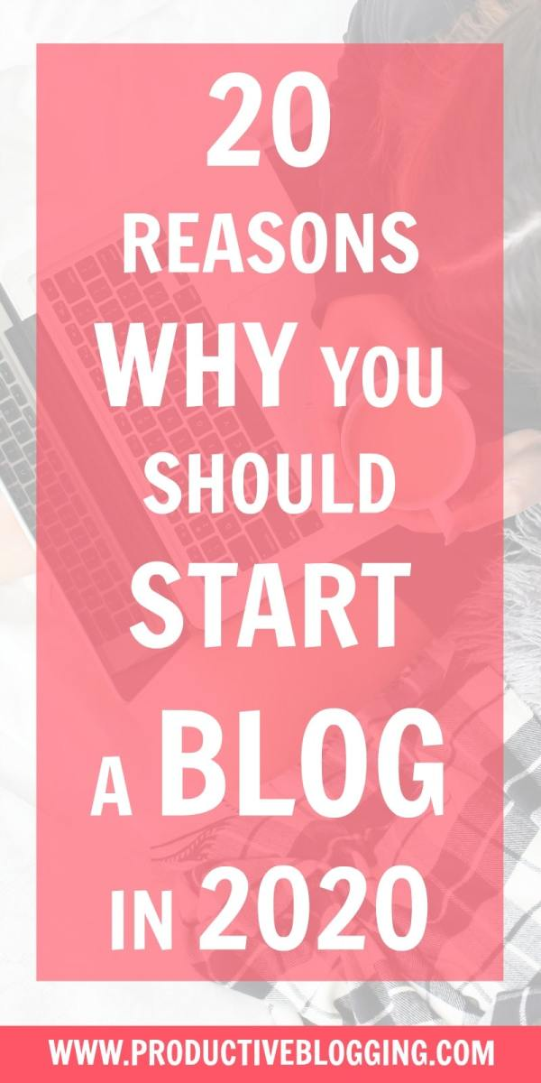 Are you considering starting a blog in 2020? Do you want to earn great money? Be your own boss? Establish your expertise? Open the doors of opportunity? Here are 20 reasons why you should start a blog in 2020… #startablog #startablog2020 #startablogin2020 #reasonstoblog #reasonstostartablog #bloggers #blogger #blogging #blog #newblogger #newbloggers #wannabeblogger #wannabebloggers #benefitsofblogging #bloggingisnotdead #whyblog #whystartablog #whystartablogin2020 #productiveblogging