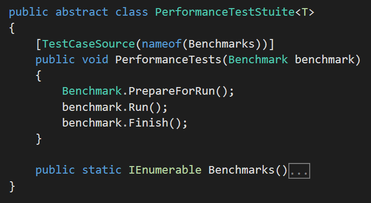 PerformanceTestSuite to run NBench tests using NUnit and ReSharper