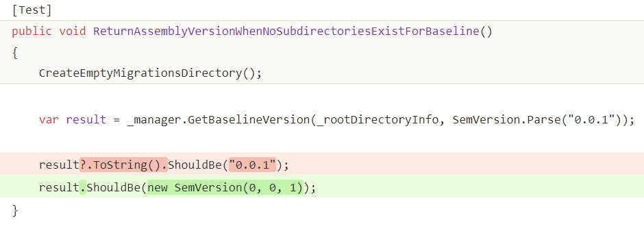 Dangerous use of null C# conditional operator in test