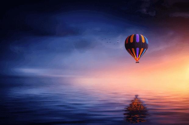 globo sobre el agua
