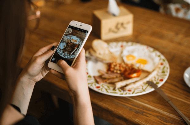 adicción al móvil foto comida pam