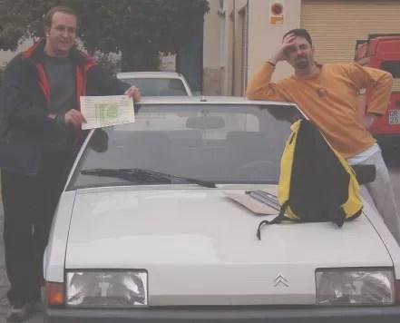 Emilio y Alberto con el diploma del BX