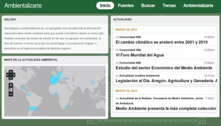Captura de pantalla de ambientalizarte.es