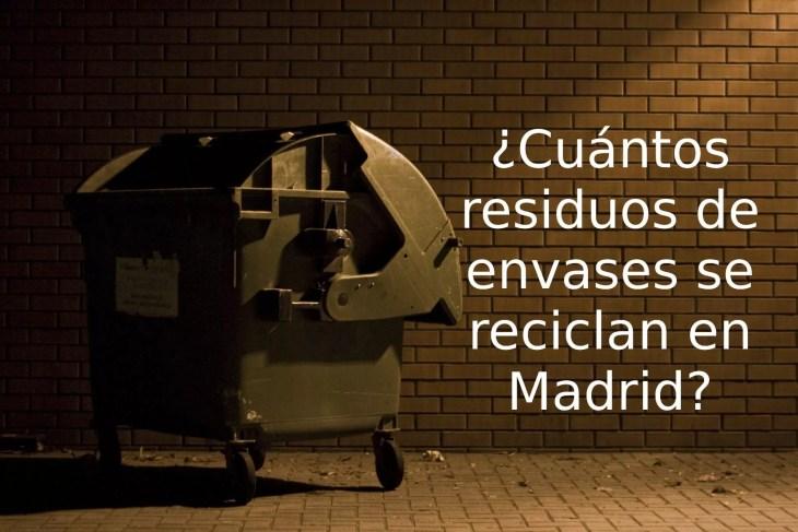 Imagen de contendor con la pregunta cuantos residuos de envases se reciclan en Madrid