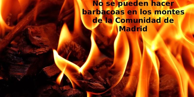 No se pueden hacer barbacoas en los montes de la Comunidad de Madrid