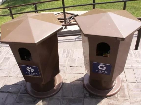 Papeleras de reciclaje en China