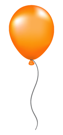 Resultado de imagen de globo naranja