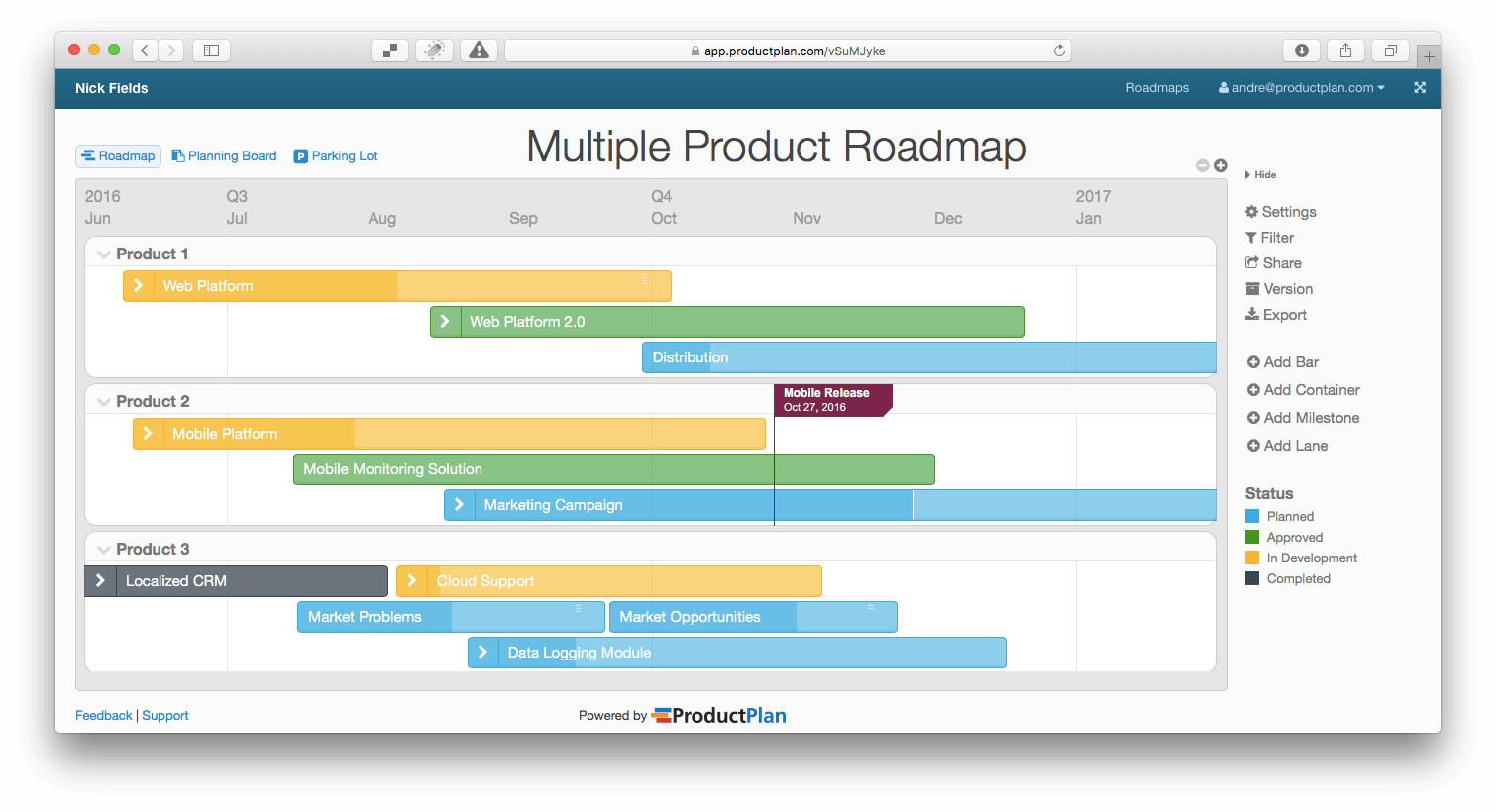 Roadmap Template Free product roadmap strategy and investment – Roadmap Template Free