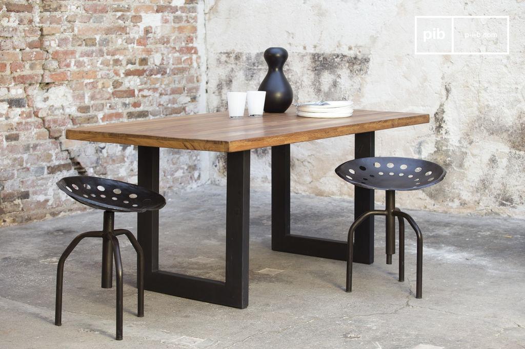 Table En Teck Peterstivy Table Industrielle En Bois Pib