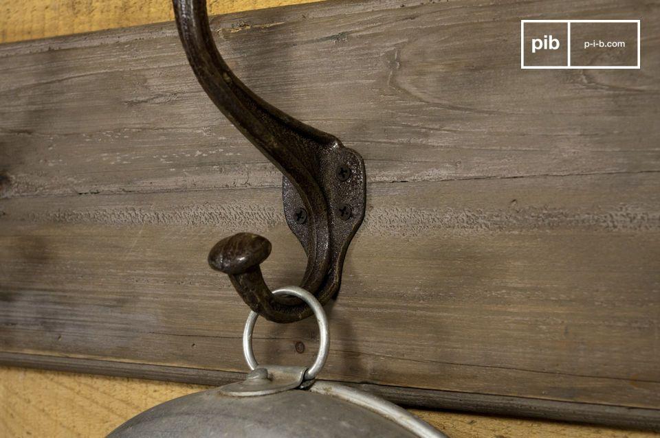 patere geante bois metal