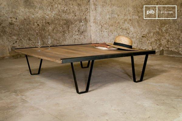 table basse bay teck