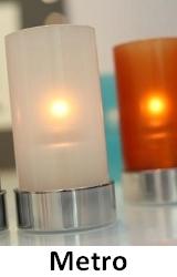 Lampki dekoracyjne na płynny wosk LUMEA: Metro