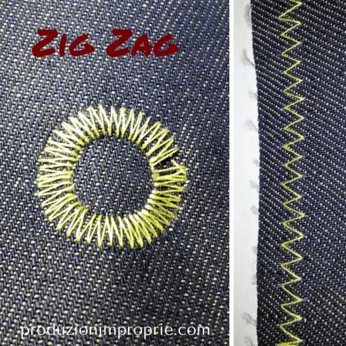 flower stitch punto zig zag semplice