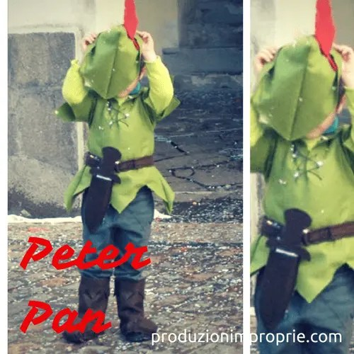 costume carnevale peter pan