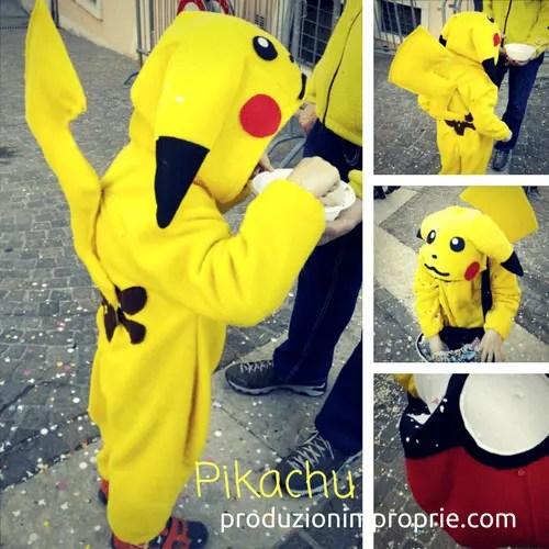 costume carnevale pikachu