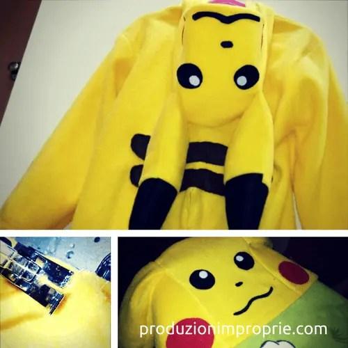 realizzazione costume carnevale pikachu