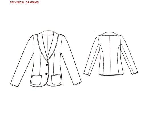 cartamodello giacca felpa