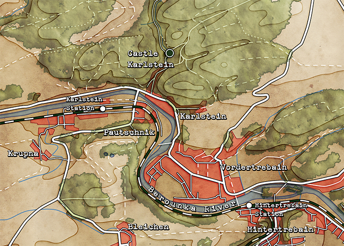 World War 2 Area Map Example