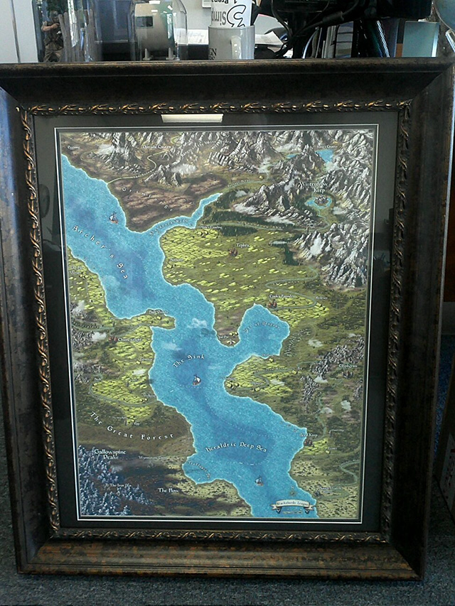 Framed Blackshard Map