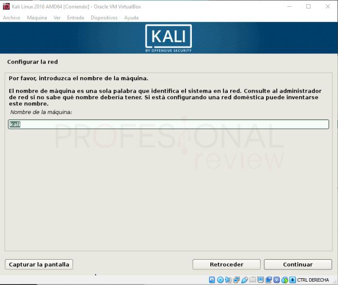 Instalar Kali Linux en VirtualBox paso 10