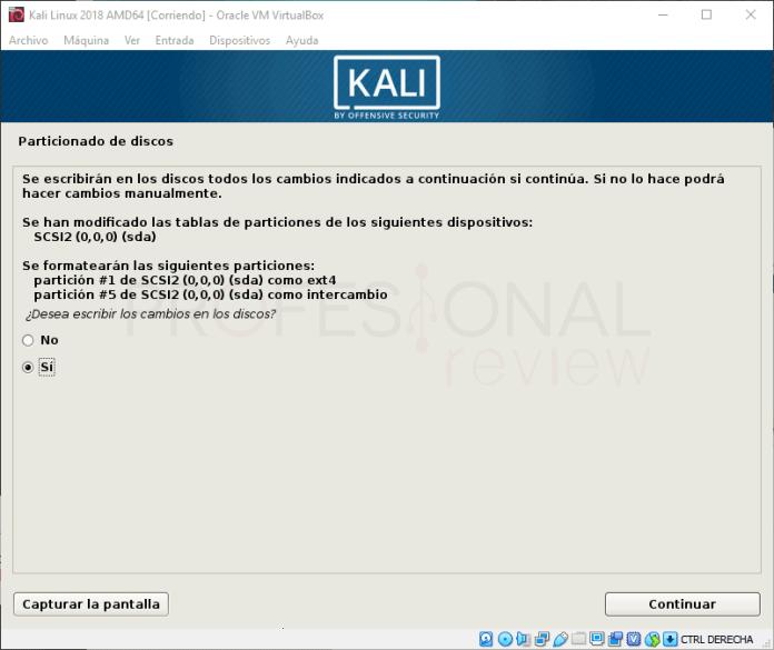 Instalar Kali Linux en VirtualBox paso 15