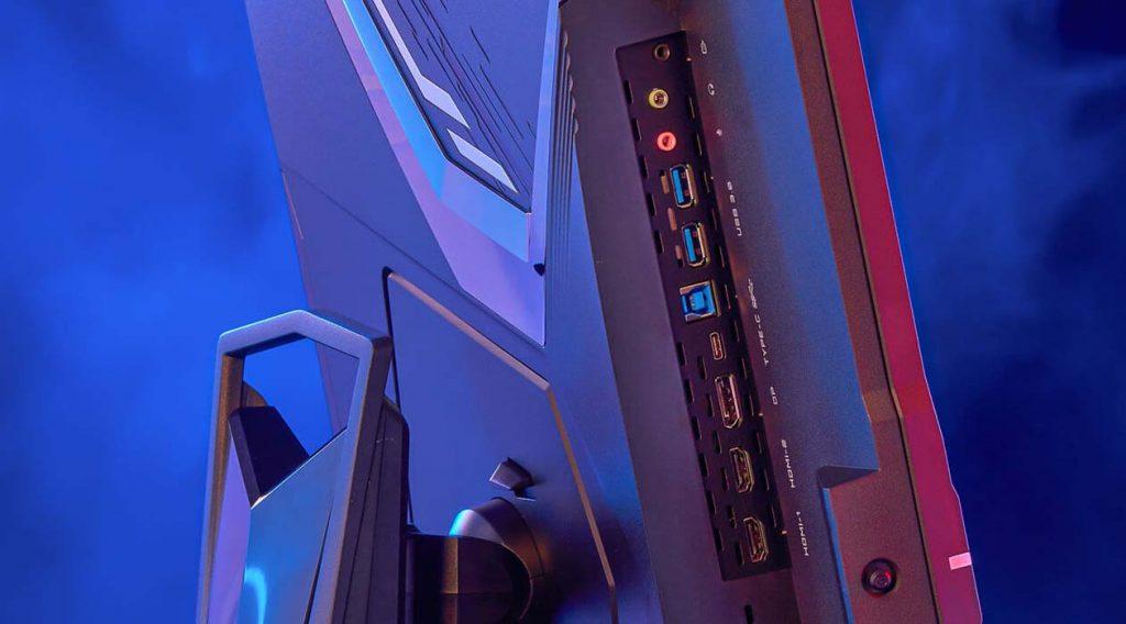 puertos monitores 4k aorus