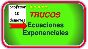 ecuaciones exponenciales ejercicios resueltos con fracciones tipo 1 y tipo 2