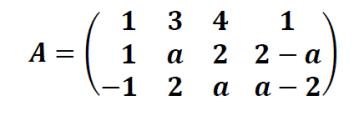 rango de una matriz 3x4